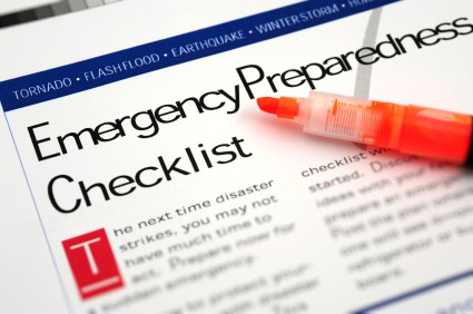 A graphic of an Emergency Preparedness Checklist