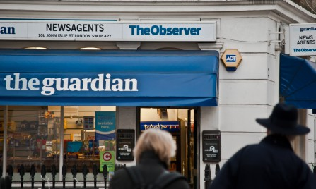 the words the guardian on a storefront