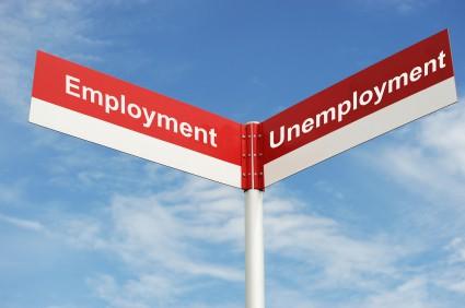 Employment Unemployment sign