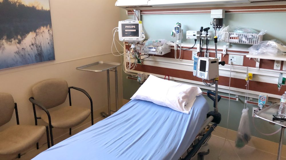hospital bed and medical equipment