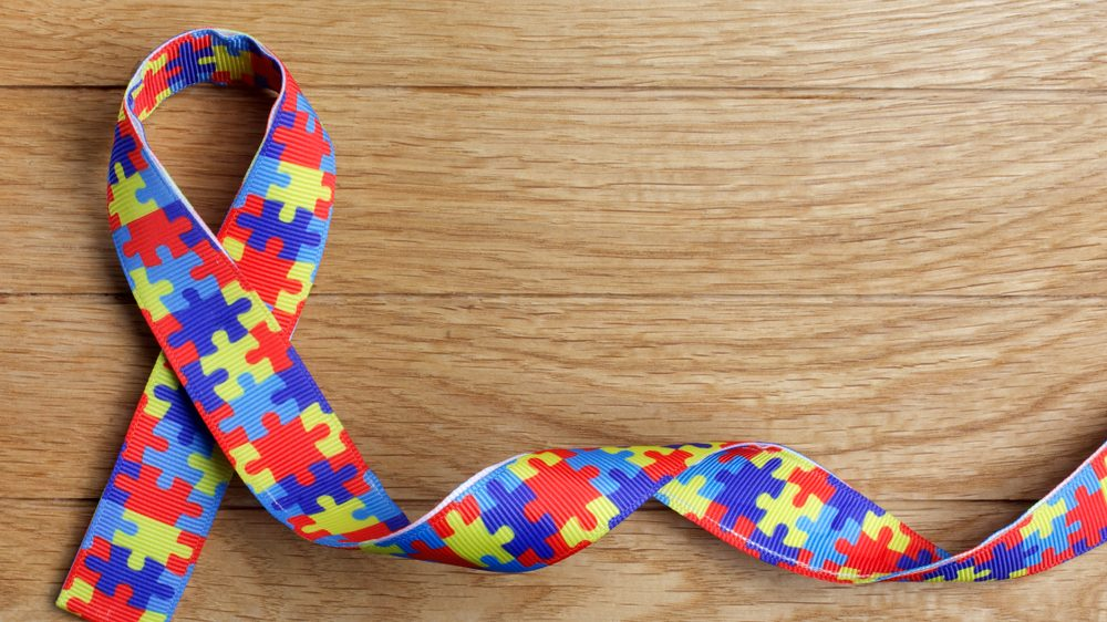 ribbon with puzzle pieces pattern