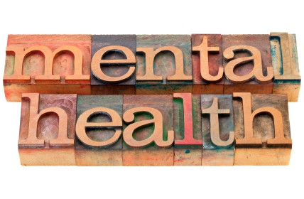 Photo of the words mental health in print blocks