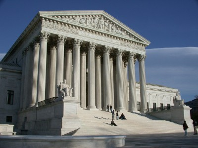 Horizontal Full View of Supreme Court and Steps