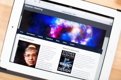 Screenshot of Stephen Hawkings' Website