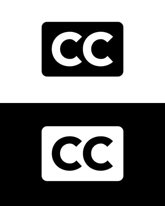 Closed caption logo, featuring two c's side by side