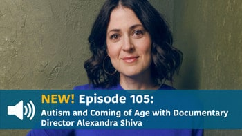 Director Alexandra Shiva, with podcast play button