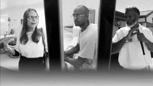 Black and white images of Kara, Eldorado and Tyrone