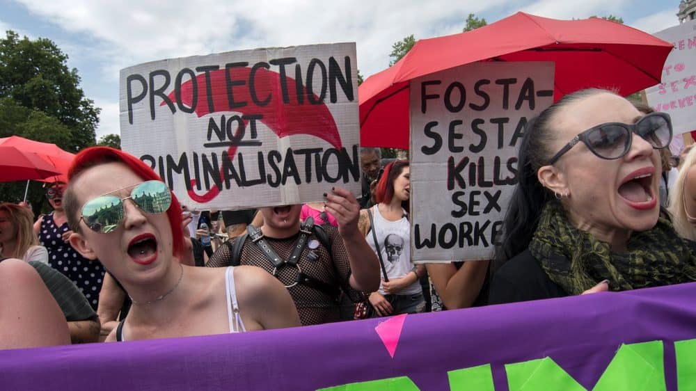 Campaigners protest against raids on sex workers in London