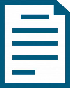 A flat icon of a document