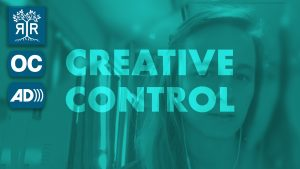 Video Still with a stylized photo of Shannon Finnegan with the words: Creative Control overlaid on top.