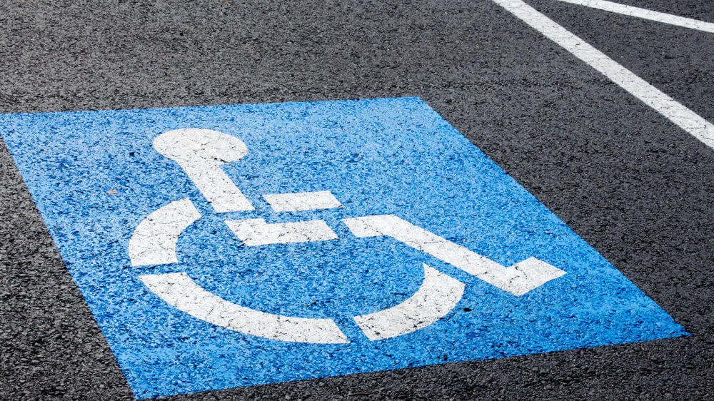 Photo of an accessible parking space