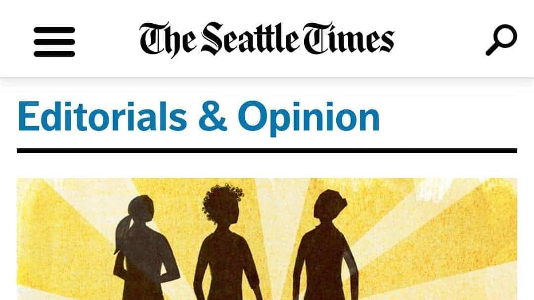 """Screenshot of the SEattle Times Oped """"Coronavirus: Remember students with disabilities in a time of crisis"""""""
